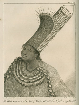 'An Heiva, or kind of Priest of Yoolee-Etea, & the Neighbouring Islands' by Thomas Chambers - print