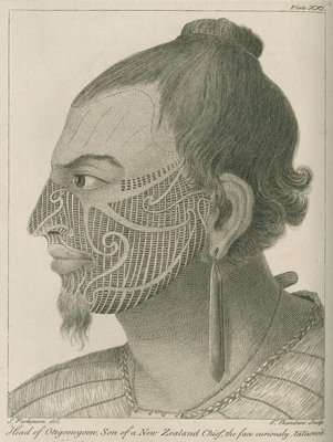 'Head of Otegoowgoow, Son of a New Zealand Chief...' by Thomas Chambers - print