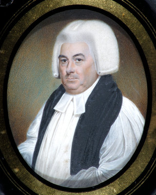 Miniature of Samuel Horsley (1733-1806) by Walter Stephens Lethbridge - print