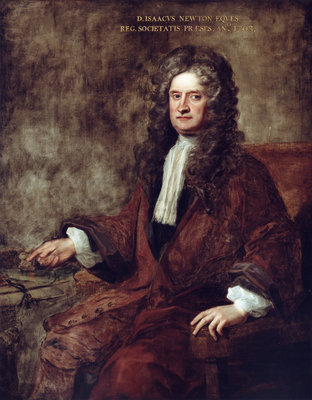 Portrait of Isaac Newton (1642-1727) by Charles Jervas - print