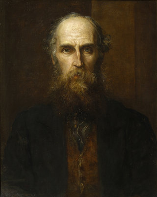 Portrait of William Spottiswoode (1825-1883) by George Frederick Watts - print