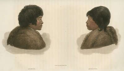 Inuit interpreters: Junius [L] and Augustus [R] by Edward Francis Finden - print