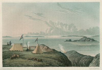 View of the Arctic Sea, from the mouth of the Copper Mine River by Edward Francis Finden - print