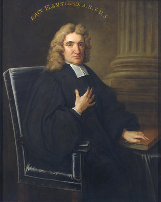 Portrait of John Flamsteed (1646-1719) by Thomas Gibson - print