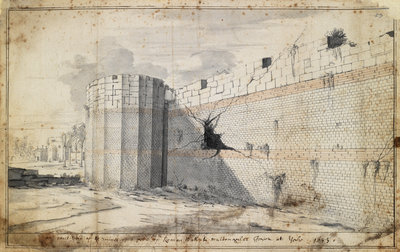 The Roman wall at York by Martin Lister - print