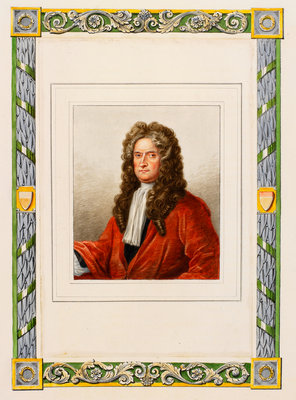 Portrait of Isaac Newton (1642-1727) by George Perfect Harding - print