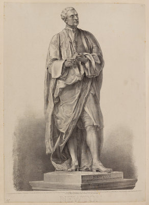 Statue of Sir Isaac Newton by George E Madeley - print
