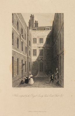 The Royal Society's house at Crane Court by Charles John Smith - print