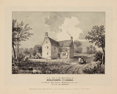 Woolsthorpe Manor by George Rowe - print