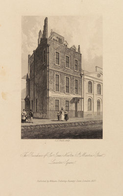 Sir Isaac Newton's house in Leicester Square by Charles John Smith - print