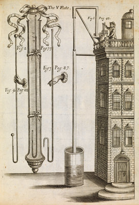 Robert Boyle's barometer by Anonymous - print