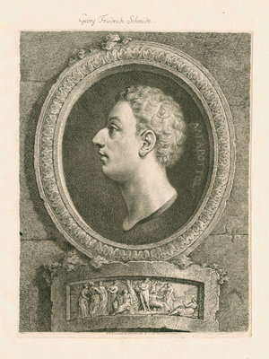 Portrait of Francesco Algarotti (1712-1764) by Georg Friedrich Schmidt - print