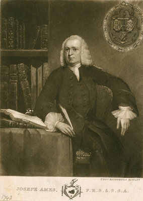 Portrait of Joseph Ames (1689-1759) by Thomas Hodgetts - print