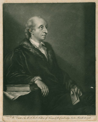 Portrait of William Coxe (1748-1828) by William Pether - print