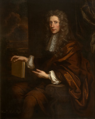 Portrait of Robert Boyle (1627-1691) by John Riley - print