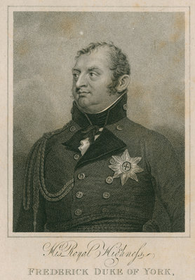 Portrait of Frederick, Prince, Duke of York and Albany (1763-1827) by Henry Richard Cook - print