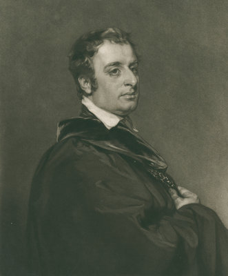 Portrait of John Gage Rokewode (1786-1842) by Thomas Hodgetts - print