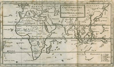 Map of William Dampier's voyage to Australia, 1699 by Anonymous - print