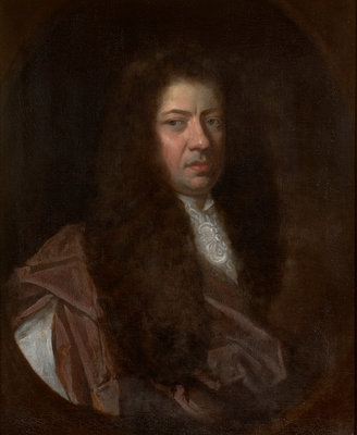 Portrait of Samuel Pepys (1633-1703) by Godfrey Kneller - print