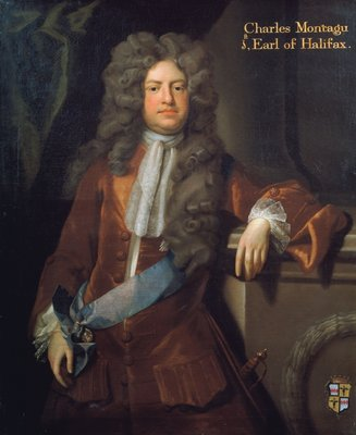 Portrait of Charles Montagu, 1st Earl of Halifax (1661-1715) by Michael Dahl - print