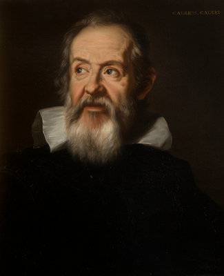Portrait of Galileo Galilei (1564-1642) by unknown - print