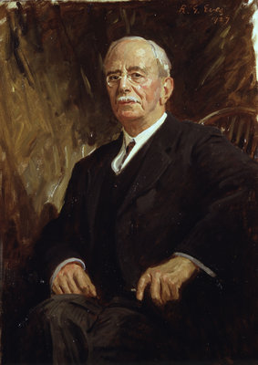 Portrait of Charles Sherrington (1857-1952) Wall Art & Canvas Prints by Reginald Grenville Eves