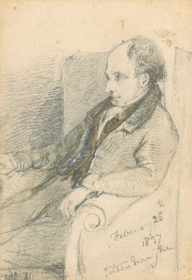 Portrait of William Swainson (1789-1855) by unknown - print
