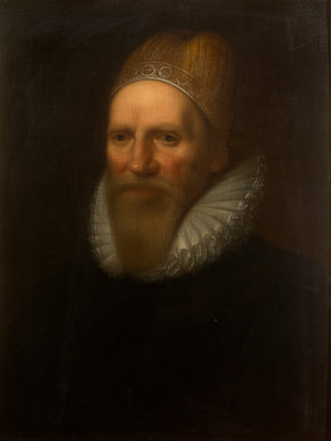 Portrait of Henry Spelman (1563-1641) by Studio of Cornelius Janssen van Ceulen - print