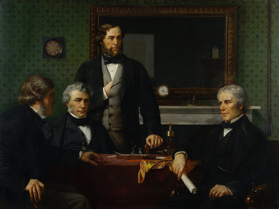 Deputation to Faraday by Edward Armitage - print