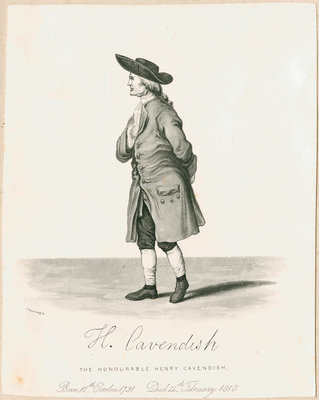 Portrait of Henry Cavendish (1731-1810) by Charles Rosenberg I - print