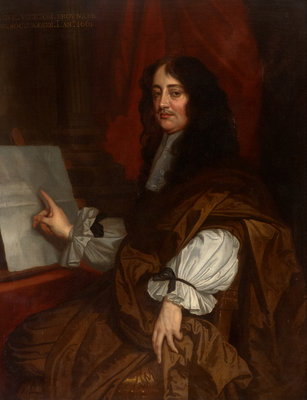 Portrait of William Brouncker, 2nd Viscount Brouncker of Lyons (1620-1684) by Peter Lely - print