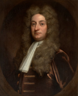 Portrait of Hans Sloane (1660-1753) by Godfrey Kneller - print