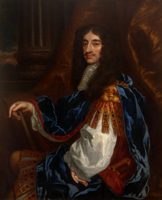 Portrait of Charles II (1630-1685) by Peter Lely - print