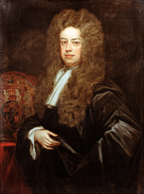 Portrait of John Somers, 1st Baron Somers (1651-1716) by Godfrey Kneller - print