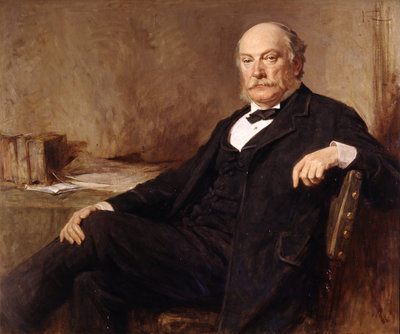 Portrait of John William Strutt. 3rd Baron Rayleigh (1842-1919) by George Reid - print
