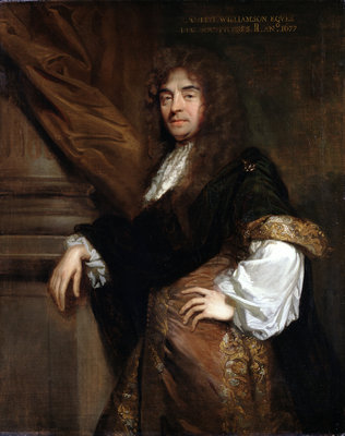 Portrait of Joseph Williamson (1633-1701) by Godfrey Kneller - print