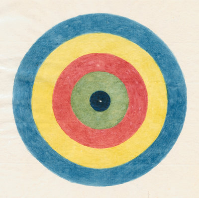 Roundel for use in optical experiments by Robert Waring Darwin - print