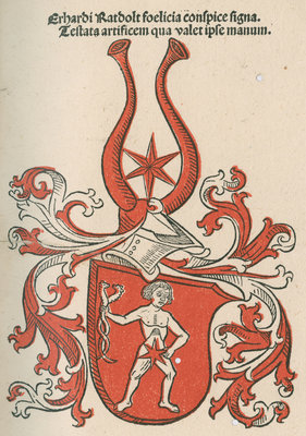 Coat of arms from 'Cocordatia astronomie cu theologia' by Anonymous - print