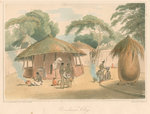 'Booshuana Village' by Edward Francis Finden - print