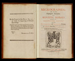 Title page of Robert Hooke's 'Micrographia' by Robert Hooke - print