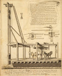 Horse-gin operated pile driver by Collet - print