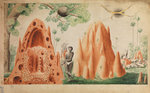 Landscape with termite hills by Joseph Mulder - print