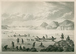 Expedition passing through Point Lata on the ice, June 25 1821