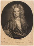 Portrait of Isaac Newton (1642-1727) by George Vertue - print