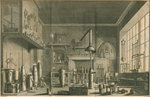 A chemistry laboratory by George Vertue - print