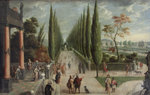 Italian-style garden landscape by Charles Stoppelaer - print
