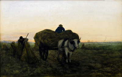 Loading the Wagon Poster Art Print by Med Weele