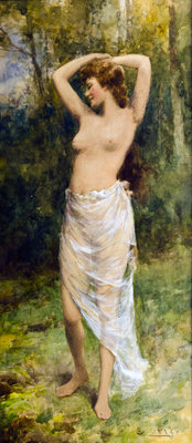 Bathing Beauty Fine Art Print by Alfred Glendening Jnr