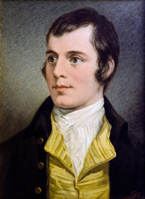 Portrait of Robert Burns (after Alexander Nasmyth) Poster Art Print by J. B. Alexander