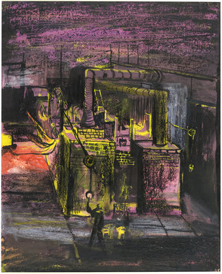 Furnaces - End View Postcards, Greetings Cards, Art Prints, Canvas, Framed Pictures, T-shirts & Wall Art by Graham Sutherland